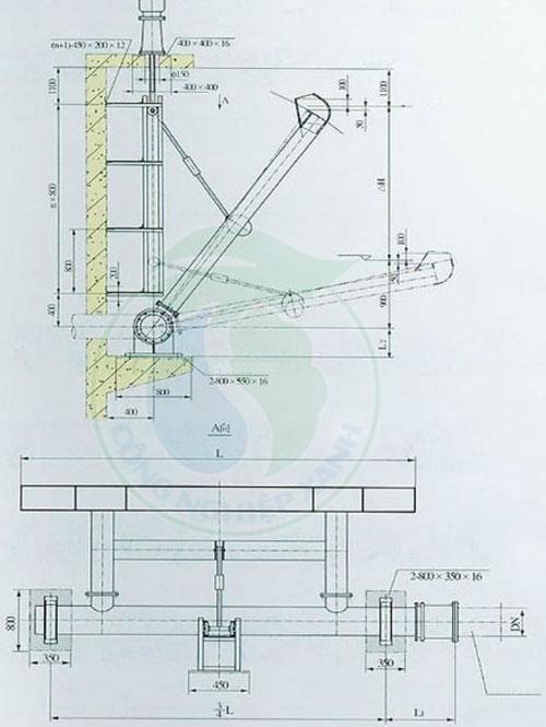 Bản vẽ thiết kế thiết bị thu nước bề mặt – Decaner theo yêu cầu của khách hàng của MTCNX